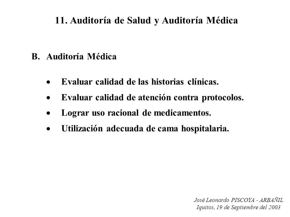 11. Auditoría de Salud y Auditoría Médica