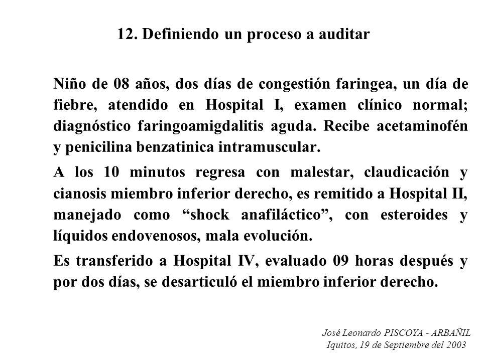 12. Definiendo un proceso a auditar