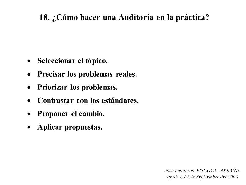 18. ¿Cómo hacer una Auditoría en la práctica