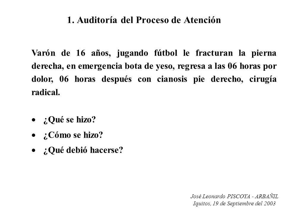 1. Auditoría del Proceso de Atención