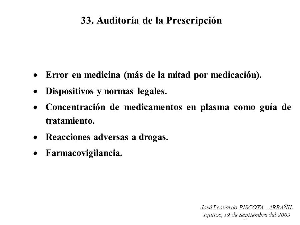33. Auditoría de la Prescripción