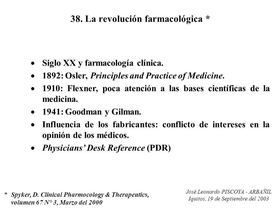 38. La revolución farmacológica *