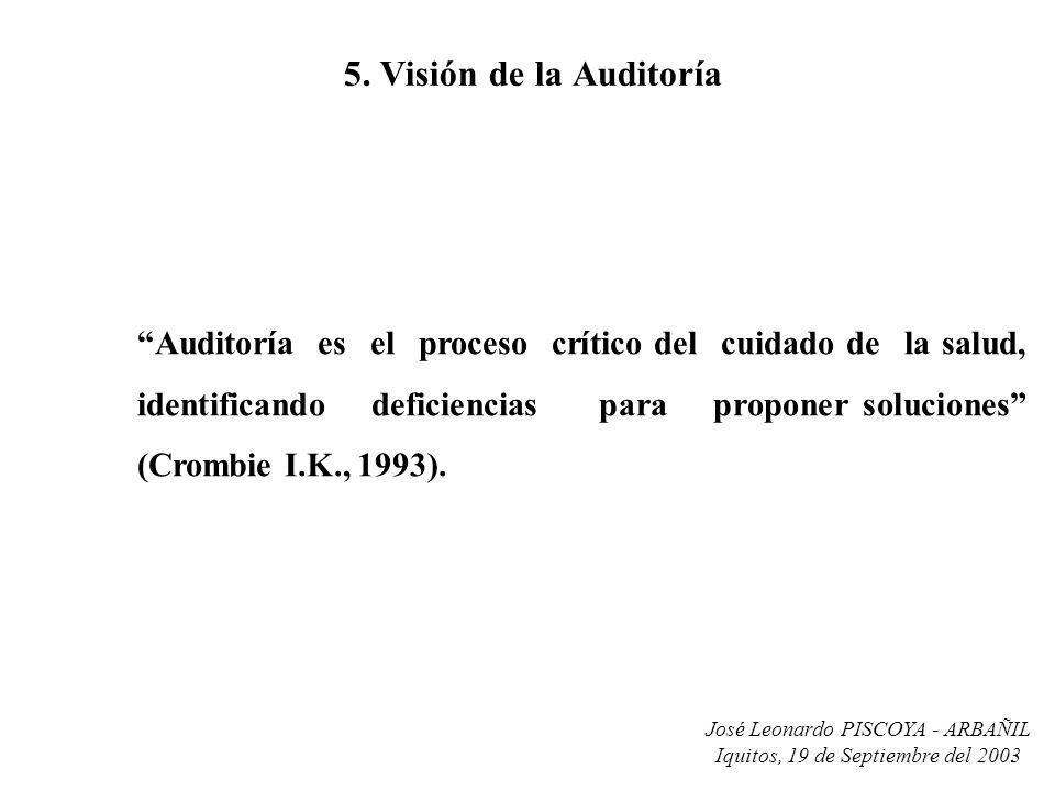 5. Visión de la Auditoría