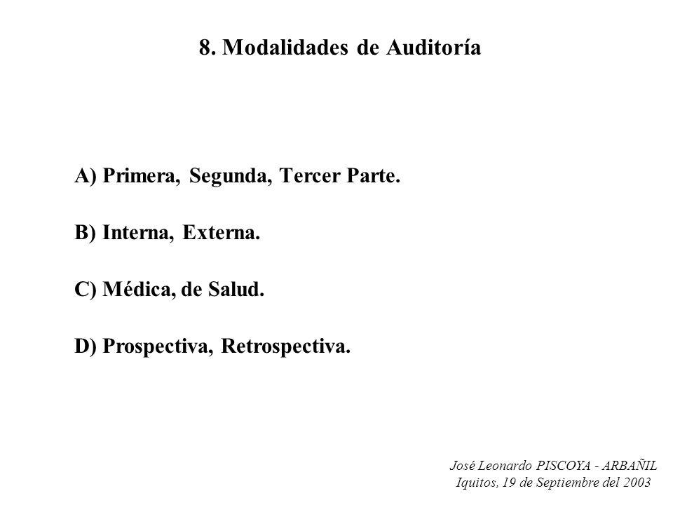 8. Modalidades de Auditoría
