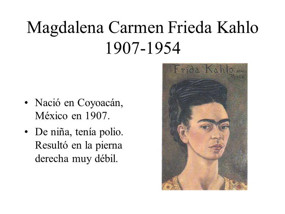 Magdalena Carmen Frieda Kahlo 1907-1954
