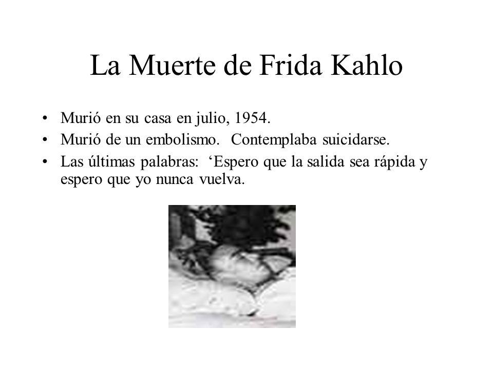 La Muerte de Frida Kahlo