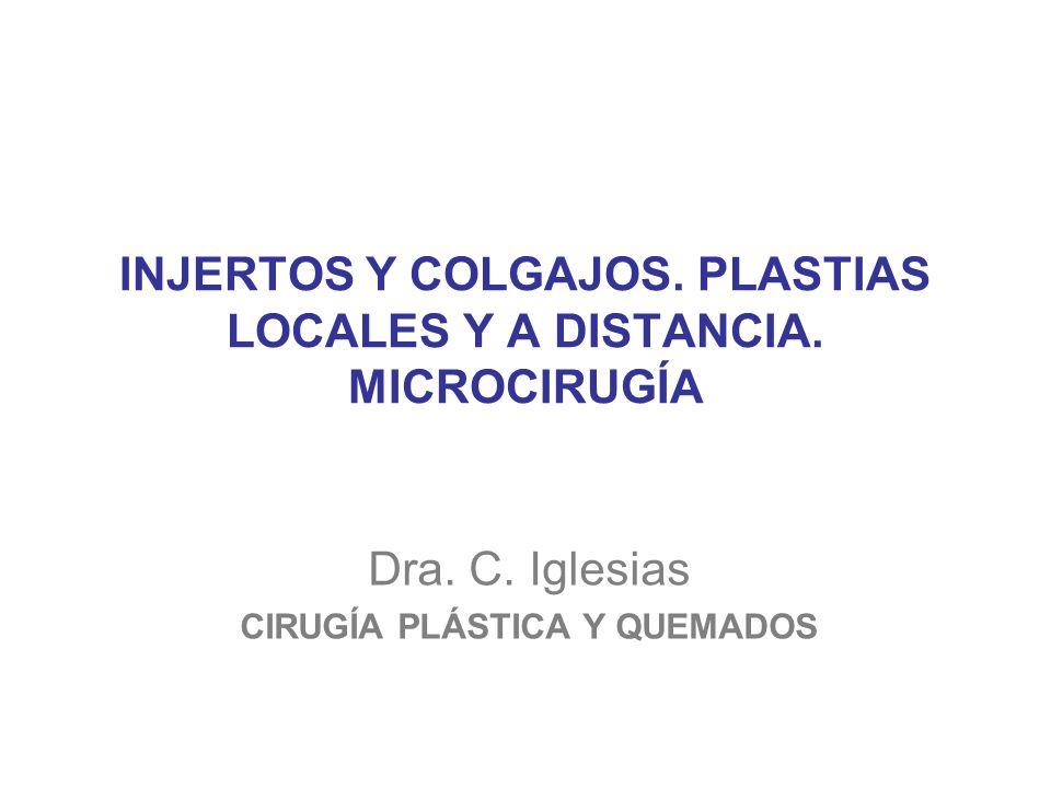 INJERTOS Y COLGAJOS. PLASTIAS LOCALES Y A DISTANCIA. MICROCIRUGÍA
