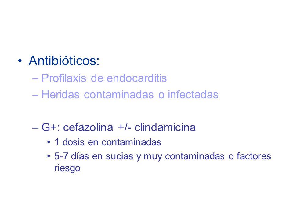 Antibióticos: Profilaxis de endocarditis