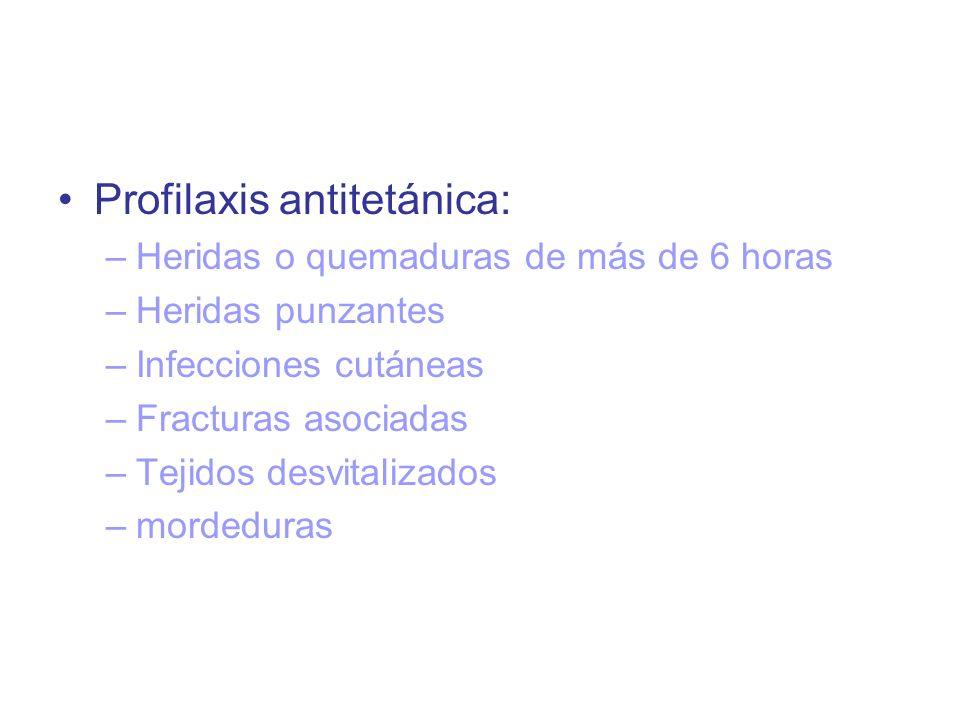 Profilaxis antitetánica:
