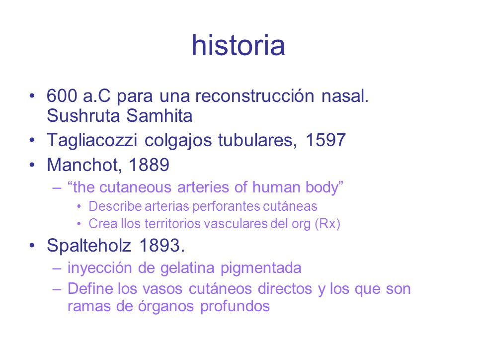 historia 600 a.C para una reconstrucción nasal. Sushruta Samhita