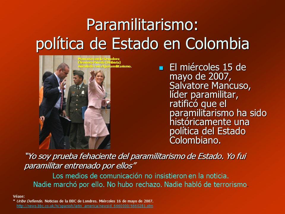 Paramilitarismo: política de Estado en Colombia