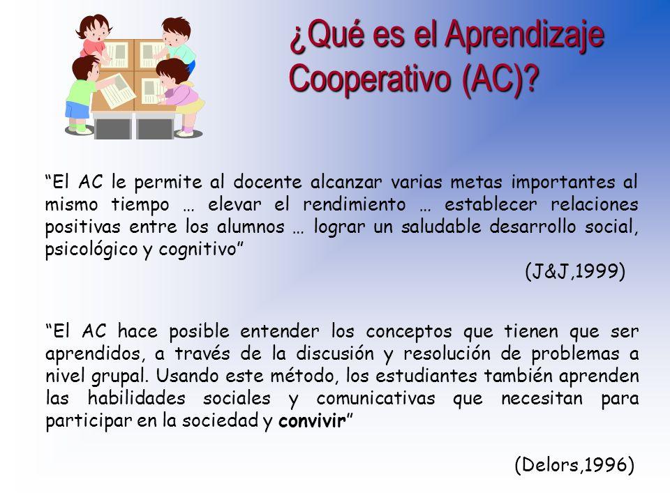 ¿Qué es el Aprendizaje Cooperativo (AC)