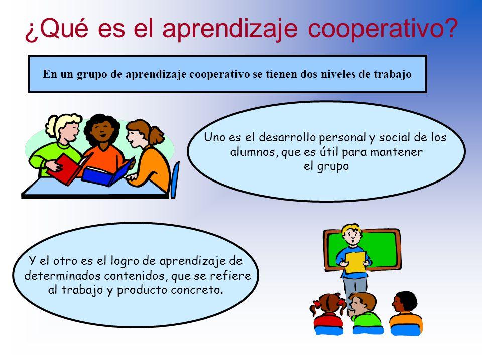 ¿Qué es el aprendizaje cooperativo