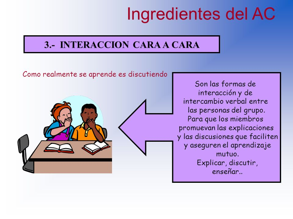 3.- INTERACCION CARA A CARA
