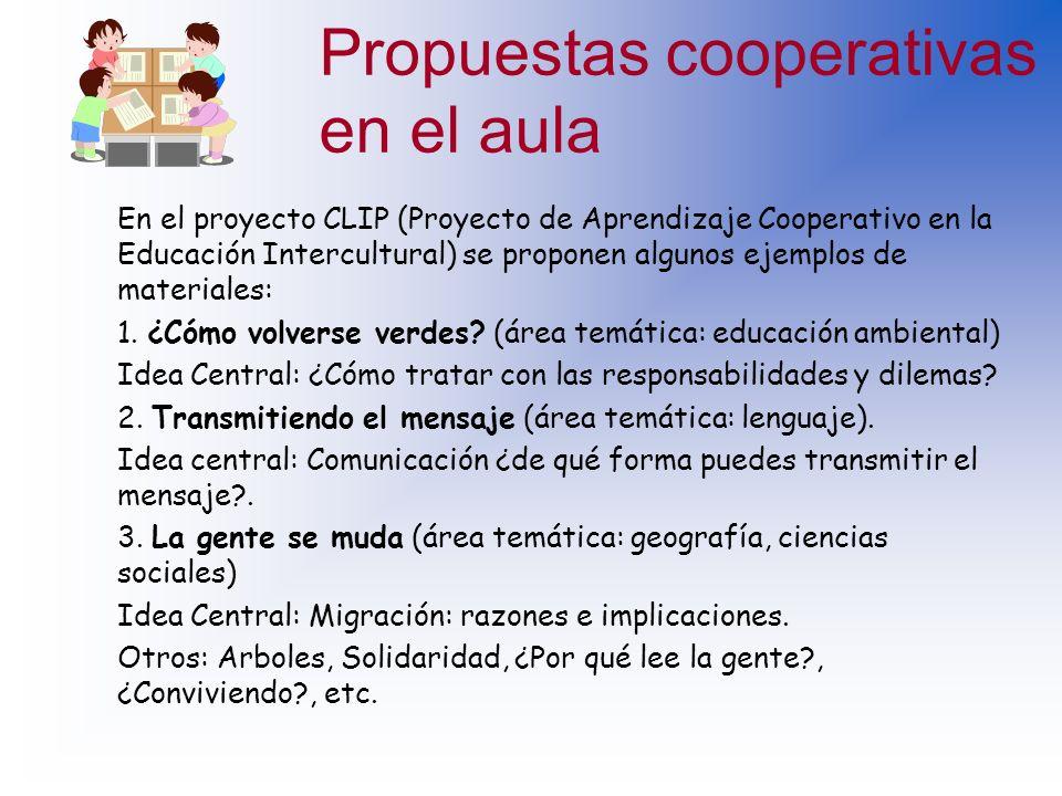 Propuestas cooperativas en el aula