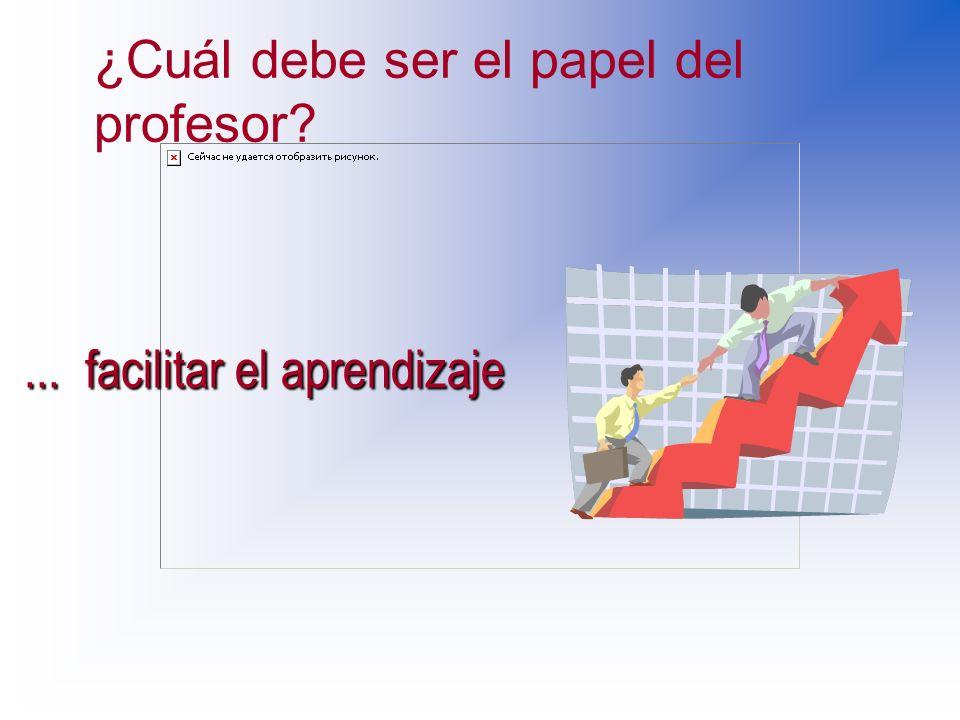 ¿Cuál debe ser el papel del profesor