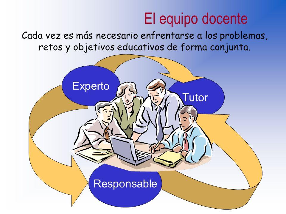El equipo docente Experto Tutor Responsable