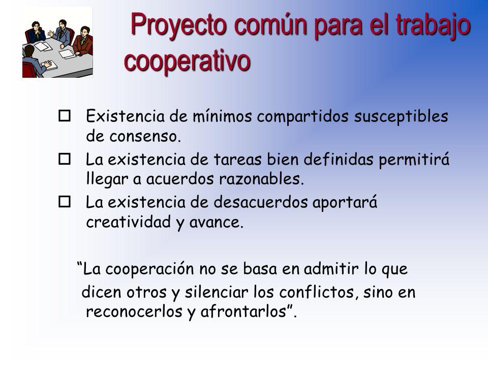 Proyecto común para el trabajo cooperativo