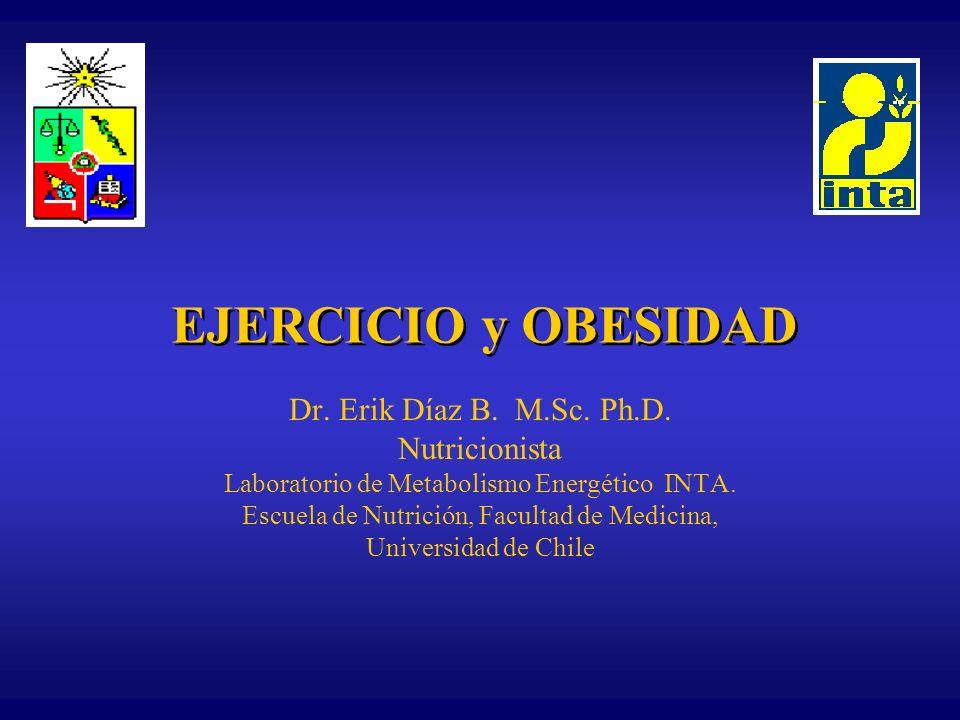 EJERCICIO y OBESIDAD Dr. Erik Díaz B. M.Sc. Ph.D. Nutricionista
