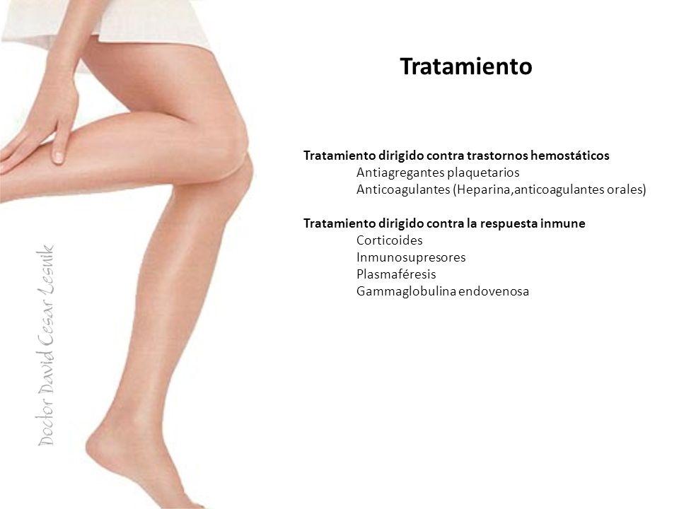 Tratamiento Tratamiento dirigido contra trastornos hemostáticos
