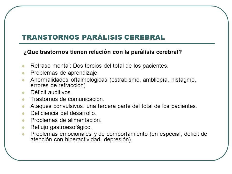 TRANSTORNOS PARÁLISIS CEREBRAL