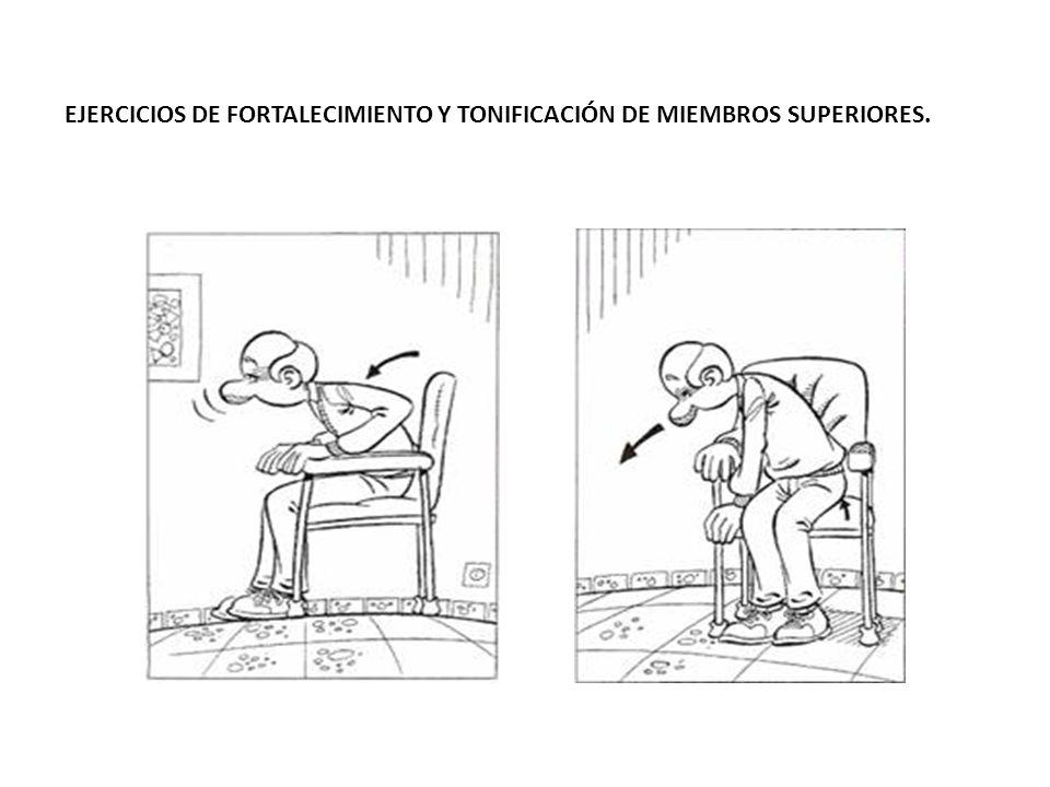 EJERCICIOS DE FORTALECIMIENTO Y TONIFICACIÓN DE MIEMBROS SUPERIORES.