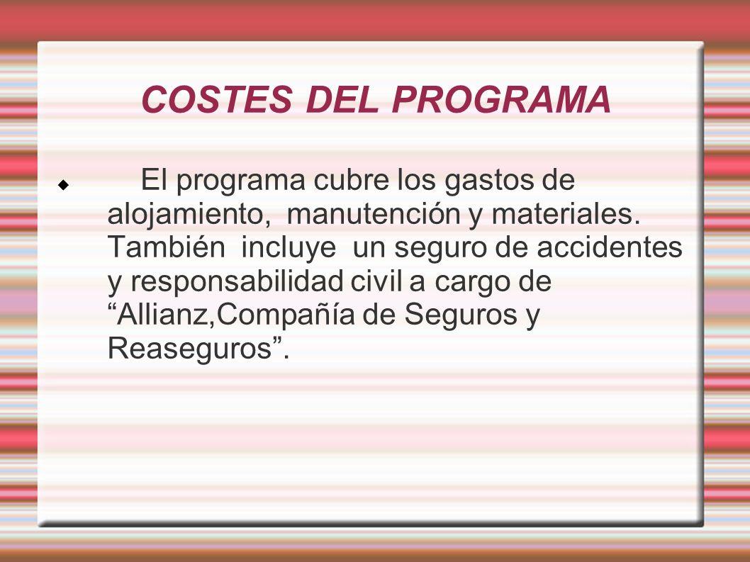 COSTES DEL PROGRAMA