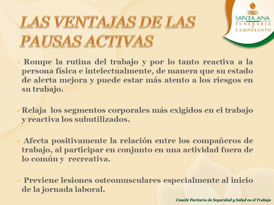 LAS VENTAJAS DE LAS PAUSAS ACTIVAS