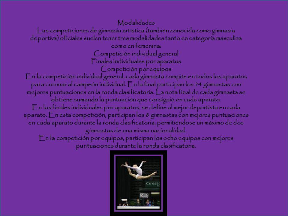 Competición individual general Finales individuales por aparatos