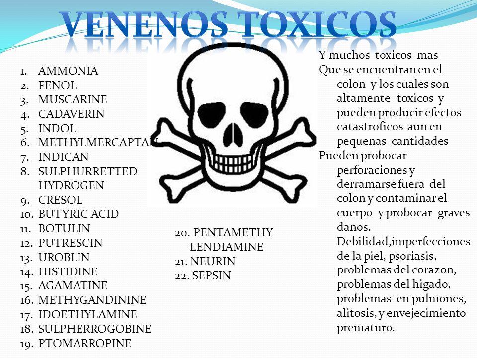Venenos toxicos Y muchos toxicos mas