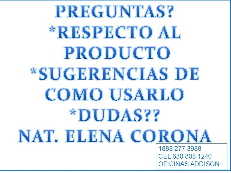 *SUGERENCIAS DE COMO USARLO