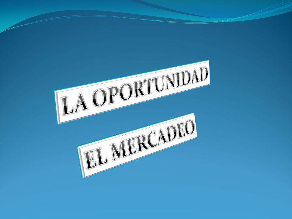 LA OPORTUNIDAD EL MERCADEO