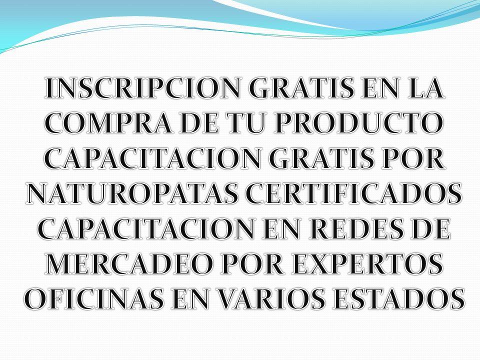 INSCRIPCION GRATIS EN LA COMPRA DE TU PRODUCTO CAPACITACION GRATIS POR
