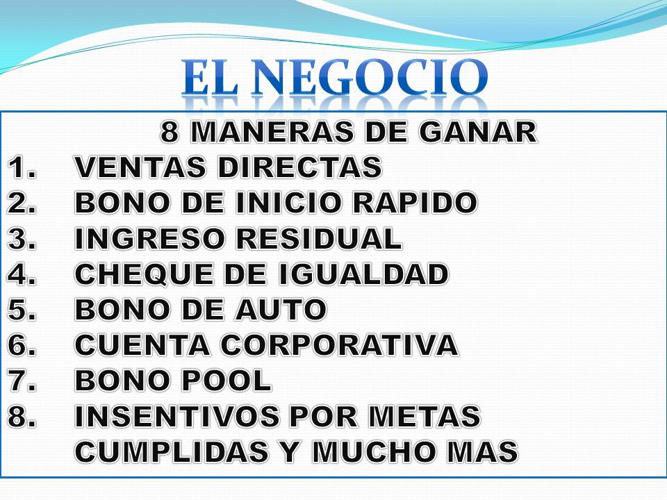 EL NEGOCIO 8 MANERAS DE GANAR VENTAS DIRECTAS BONO DE INICIO RAPIDO