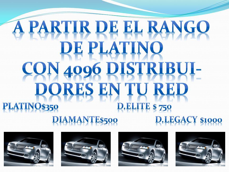 A PARTIR DE EL RANGO DE PLATINO CON 4096 DISTRIBUI- DORES EN TU RED