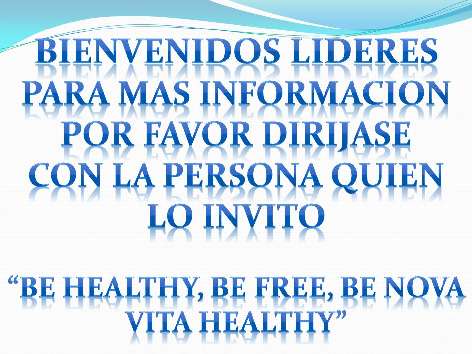 BE HEALTHY, BE FREE, BE NOVA VITA HEALTHY