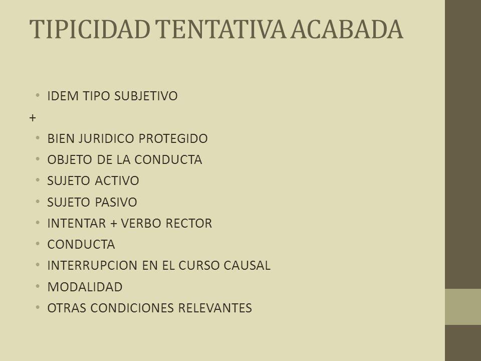TIPICIDAD TENTATIVA ACABADA