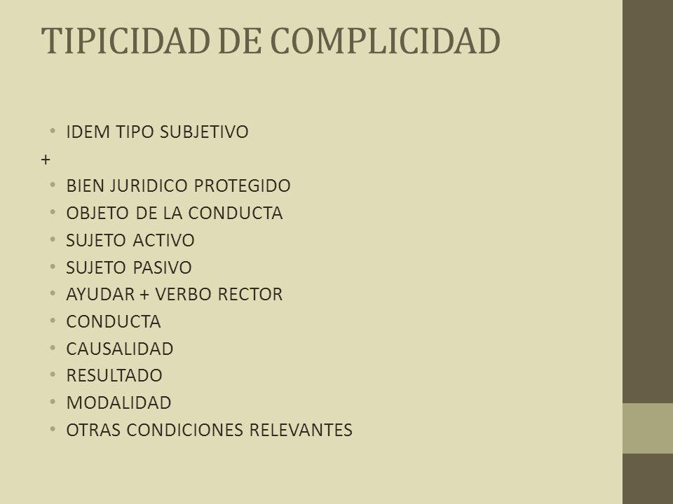 TIPICIDAD DE COMPLICIDAD
