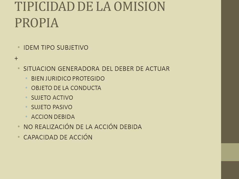 TIPICIDAD DE LA OMISION PROPIA