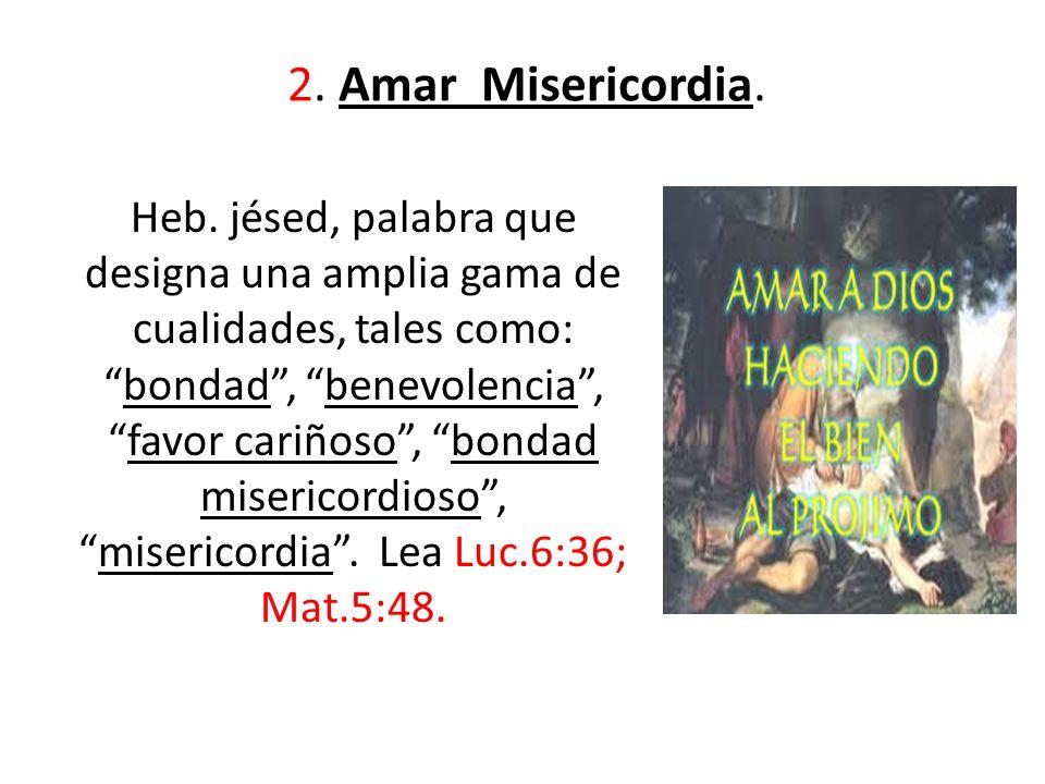 2. Amar Misericordia.