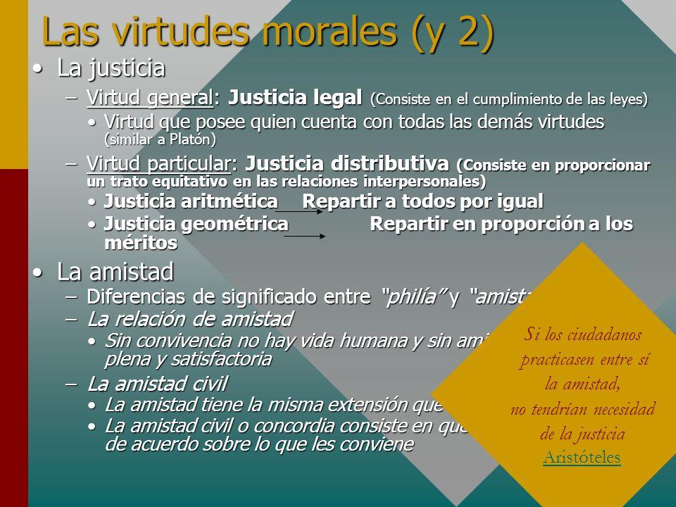 Las virtudes morales (y 2)