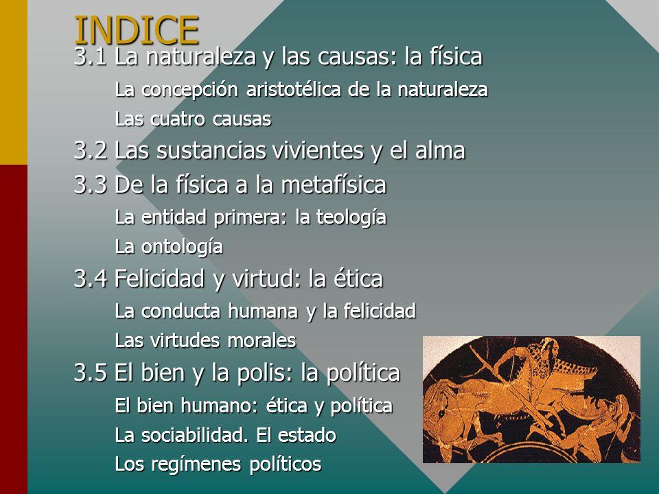 INDICE 3.1 La naturaleza y las causas: la física