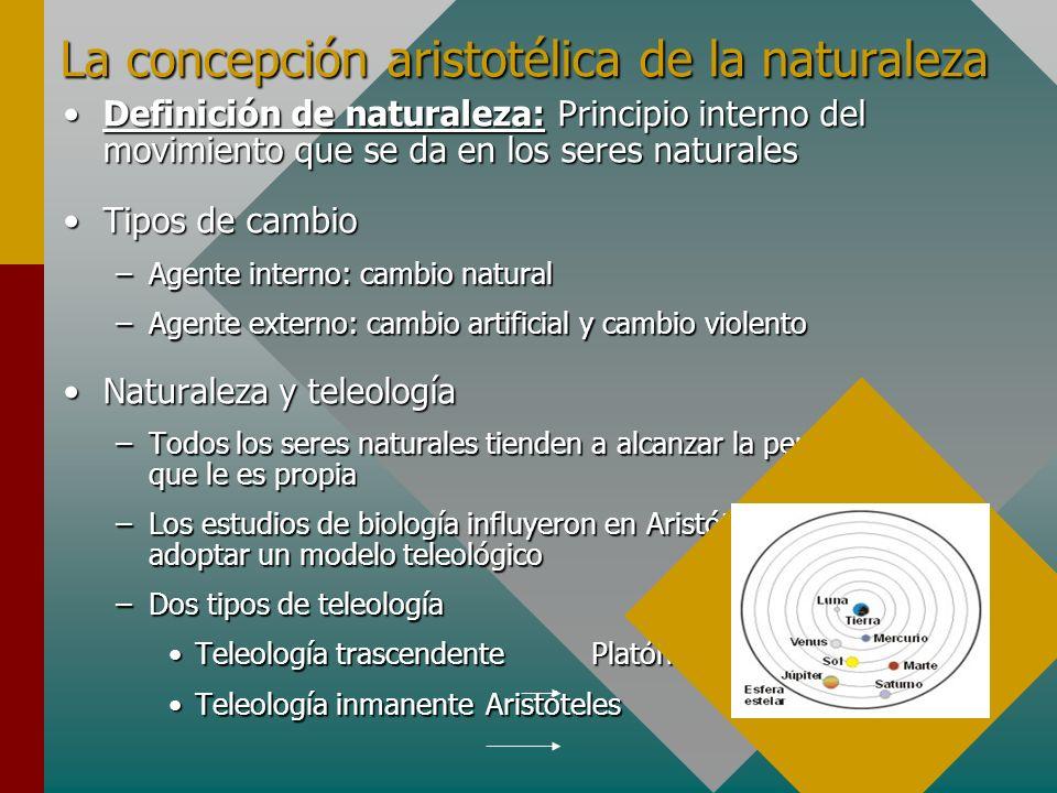 La concepción aristotélica de la naturaleza
