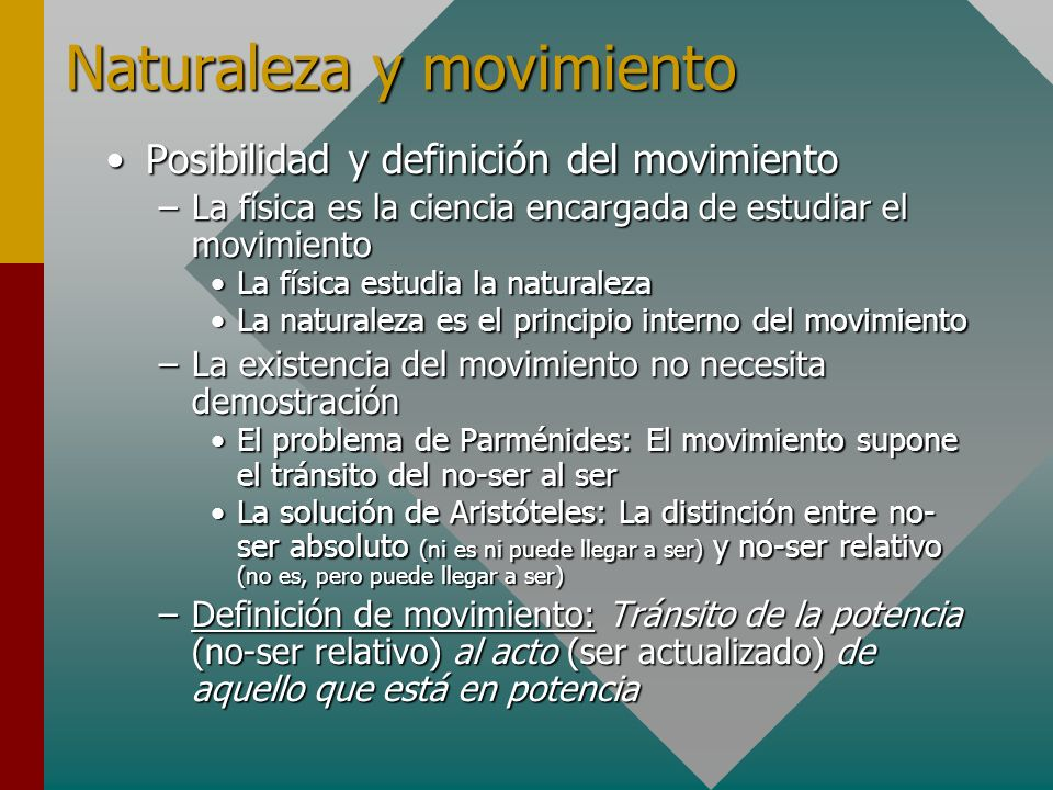 Naturaleza y movimiento