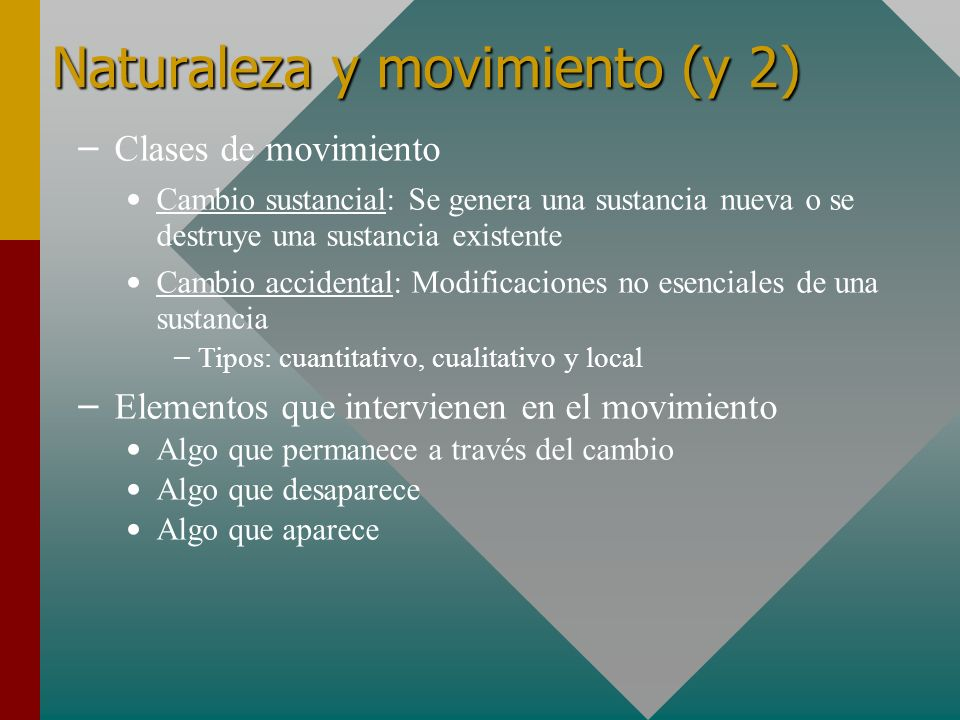 Naturaleza y movimiento (y 2)