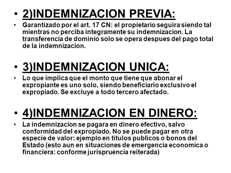 2)INDEMNIZACION PREVIA: