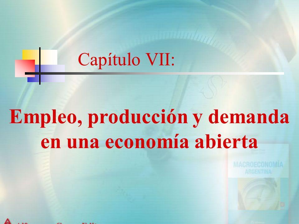 Empleo, producción y demanda en una economía abierta