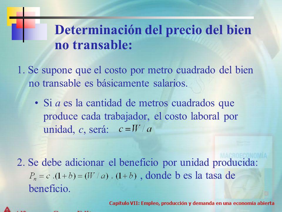 Determinación del precio del bien no transable:
