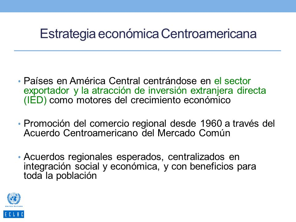 Estrategia económica Centroamericana