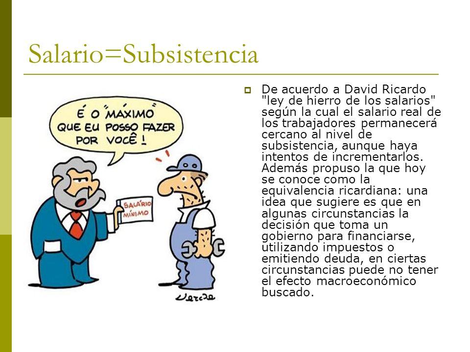 Salario=Subsistencia
